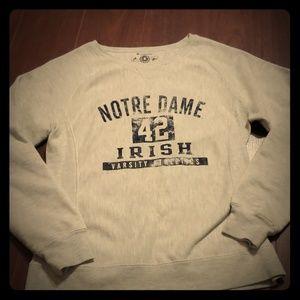 Champion Notre Dame Vintage Crew Neck Sweatshirt